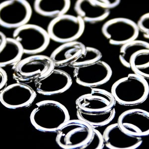 Buigring zilver zakje 15 stuks 8mm