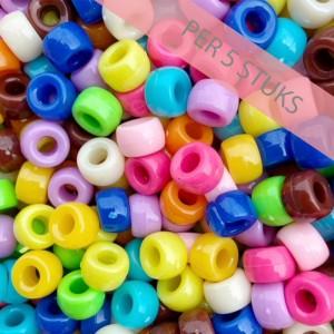 Acryl rondellen 9mm multicolor mix per 5 stuks