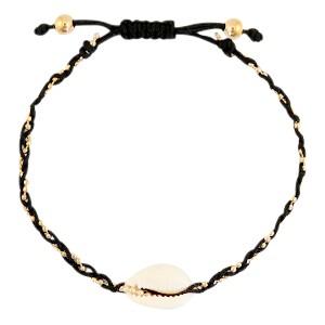 armbandje-kauri-gevlochten-black-gold