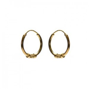 Bali oorbellen hoops 94 925 sterling zilver goldplated 14mm