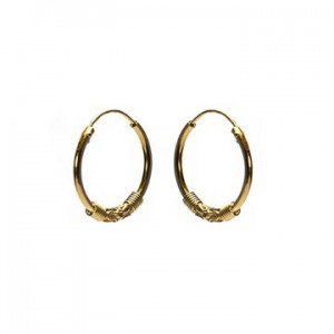 Bali oorbellen hoops 98 925 sterling zilver goldplated 16mm