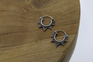 Bali oorbellen hoops mix 72 (16mm) 925 sterling zilver