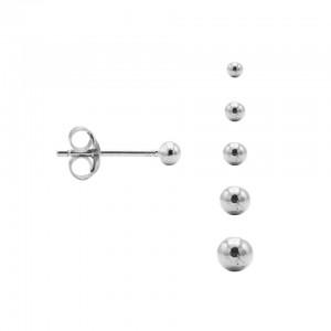 Karma minimalistische oorbellen balls 6mm 925 sterling zilver (per paar)
