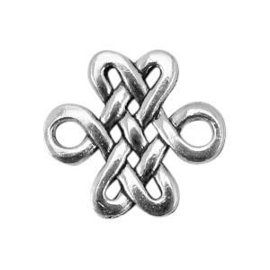 Bedel barok 16x16mm zilver