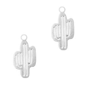 Bedel bohemian cactus zilver 17x13mm