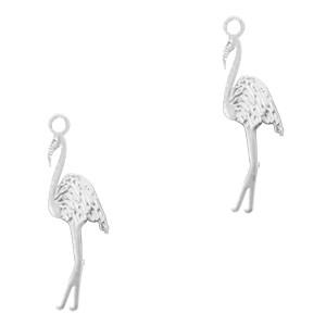 Bedel bohemian flamingo zilver 17x8mm