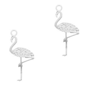 Bedel bohemian flamingo zilver 20x5mm