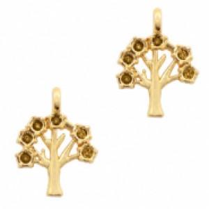 Bedel boom 15x11mm goud