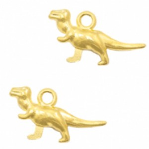 Bedel dino 20x10mm goud