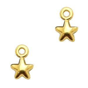 Bedel DQ small star goud 7x4mm