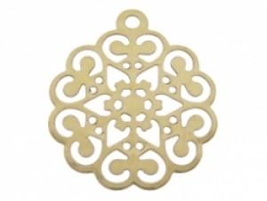 Bedel filigraan bloem goud 12x17mm