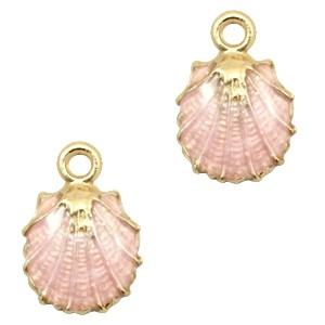 Bedel shell gold light pink 19x13mm