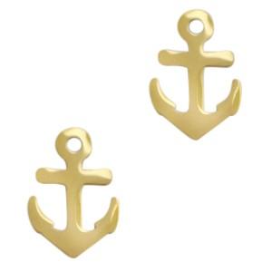 Bedel / hanger anker goud stainless steel 15x10mm (Ø1.7mm)