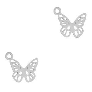 Bedel / hanger bohemian vlinder zilver 10x9mm