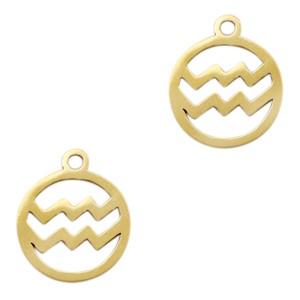 Bedel / hanger sterrenbeeld waterman goud stainless steel 13x11mm (Ø1.5mm)