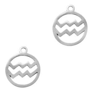 Bedel / hanger sterrenbeeld waterman zilver stainless steel 13x11mm (Ø1.5mm)