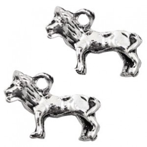 Bedel lion 15x22mm zilver
