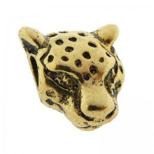 Bedel luipaard 11x13mm goud