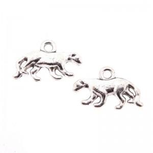 Bedel luipaard 11x18mm zilver