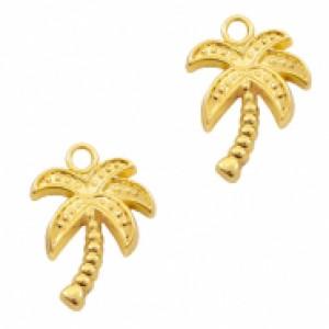 Bedel palmboom 16x13mm goud