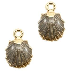 Bedel shell gold black 19x13mm