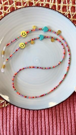 DIY pakket kralen zonnebrilkoord smiley hartjes met muntjes