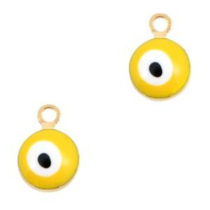 Boze oog hanger goud-geel 9x6mm