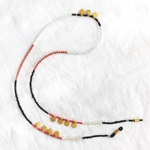 diy-pakket-zonnebrilkoordje-rood-wit-en-zwart-met-gouden-muntjes1