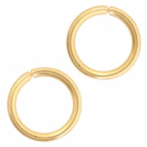 Buigring stainless steel 3mm goldplated