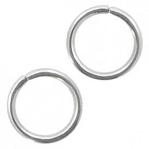 Buigring stainless steel 4mm zilver (per stuk)