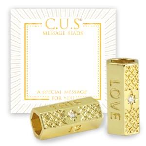 C.U.S® message beads this is love goud 21x11mm per stuk