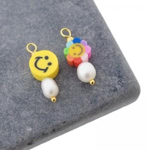 Candy crush smiley hanger goud per stuk