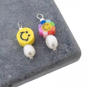 Candy crush smiley hanger zilver per stuk