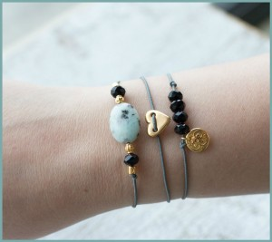 DIY pakket armbanden set Gold black armcandy