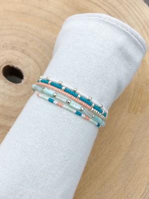 DIY pakket armbanden set underwater blue turquoise shell beads