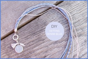 DIY pakket ketting light denim blue