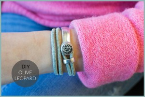 DIY pakket Olive leopard bracelet
