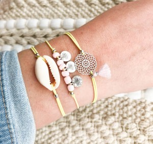 DIY pakket yellow pink armparty