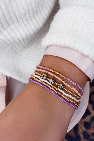 DIY pakket armbanden set purple pink greige