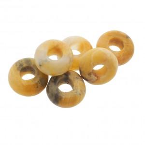 Donut edelsteen kraal crazy agaat 10.5mm