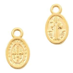 DQ bedel jezus ovaal 8x11mm goud