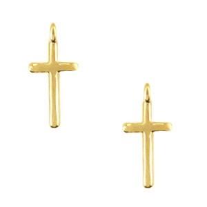 DQ bedel kruis 16x8mm goud