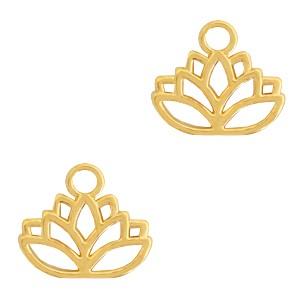 DQ bedel lotus goud 17x15mm