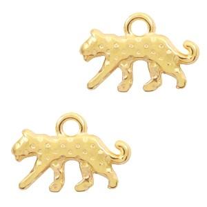 DQ bedel luipaard 15x10mm goud