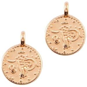 DQ bedel muntje 9.5x7.5mm rosé goud