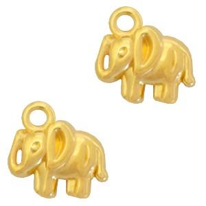 DQ bedel olifant goud 12x11mm