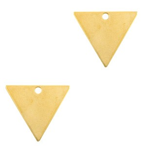 DQ bedel triangle goud 21x18mm