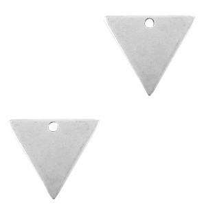 DQ bedel triangle zilver 21x18mm