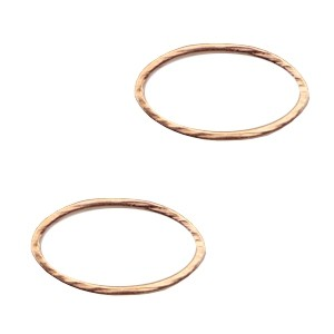 DQ bedel tussenzetsel dichte ring ovaal 8x15mm rosé