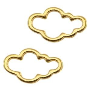 DQ bedel tussenzetsel wolk 13x7mm goud